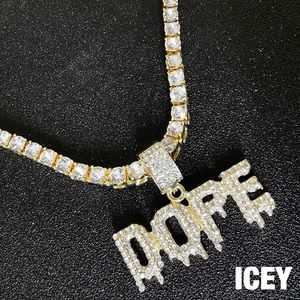 18K Faux Diamond Dripping Dope Tennis Chain